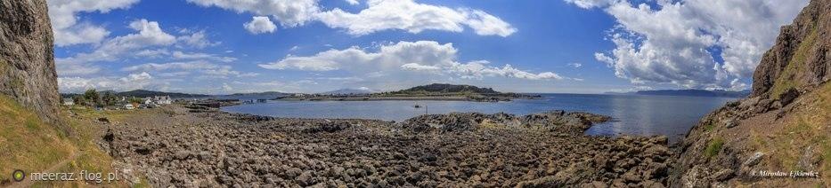 Panorama z Ellenabeich na Easdale, Szkocja.