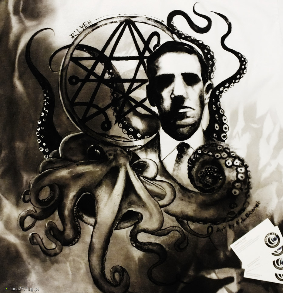 "Skończona :) Projekt koszulki specjalnej ""H.P.Lovecraft"". Katarzyna Luna Urbanek, All rights reserved"