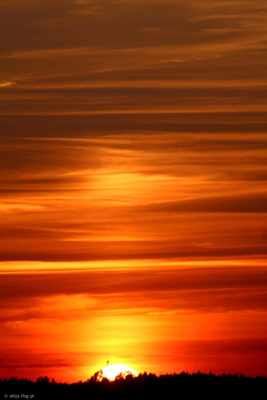 Znikające słońce. ;)
