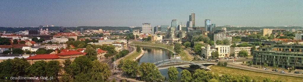 Wilno - panorama z Góry Giedymina, widok z dominantą na Snipiszki finansowe centrum miasta