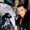 &quot;Born to Lose, live <br />to Win.....&quot;- czyli <br />mój niespodziankowy i taj<br />ny koszulek dla małżonka. :: Koszulka malowana ręcznie<br />, portret Lemmy&#039;ego <br />namalowany na podstawie f<br />otografii wyszukanej w n